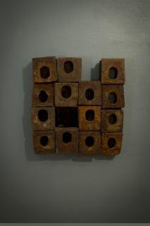 """Dwellings II 8"""" x 8.5"""" x 2"""" Steel, Wood"""