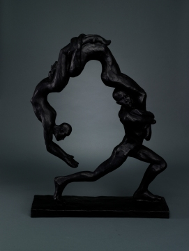 """The Power of One 34"""" x 26.5"""" x 7"""" Bronze Composite"""
