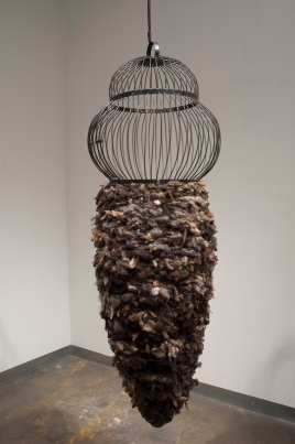 "Warming Hive 67"" x 22"" x 22"" Steel, Sheep Wool"